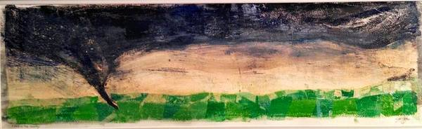 Tornado Poster featuring the mixed media Dusk Twister by Jame Hayes