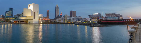 Cleveland Poster featuring the photograph Night Befalls by Jennifer Grover