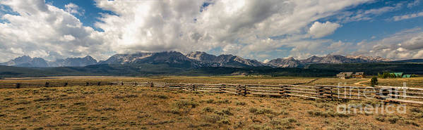 Rocky Mountains Poster featuring the photograph Sawtooth Range by Robert Bales
