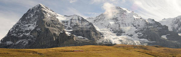 Photography Poster featuring the photograph View Of Mt Eiger And Mt Monch, Kleine by Panoramic Images