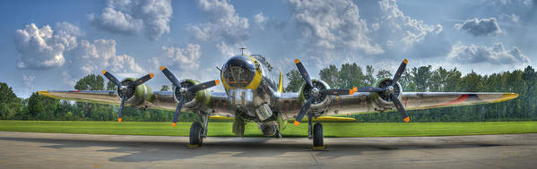 Planes Poster featuring the photograph B-17 by Williams-Cairns Photography LLC