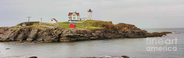 Nubble Lighthouse Poster featuring the photograph Nubble Lighthouse by Jack Schultz