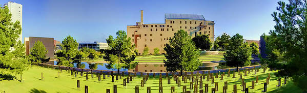 National Poster featuring the photograph Oklahoma City National Memorial by Ricky Barnard