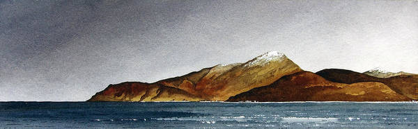 Seascape Poster featuring the painting Looking Towards Arran From Skipness by Paul Dene Marlor