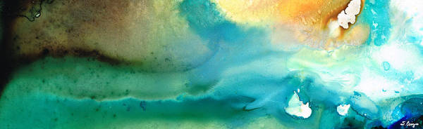 Abstract Art Poster featuring the painting Pathway To Zen by Sharon Cummings
