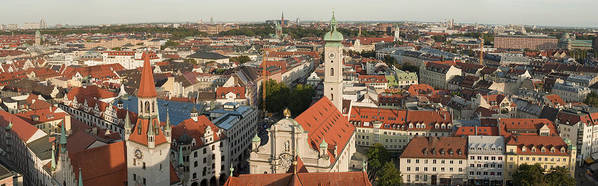 Color Image Poster featuring the photograph View Over Munich With Frauenkirche by Greg Dale