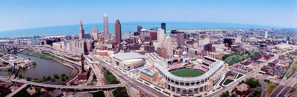 Photography Poster featuring the photograph Aerial View Of Jacobs Field, Cleveland by Panoramic Images