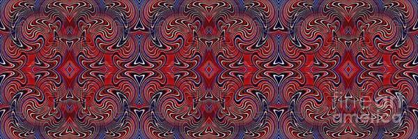 Americana Poster featuring the digital art Americana Swirl Banner 1 by Sarah Loft