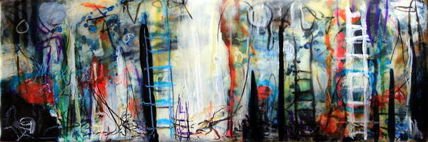 Abstract Poster featuring the painting And My Little Hands Shake by Mary C Farrenkopf