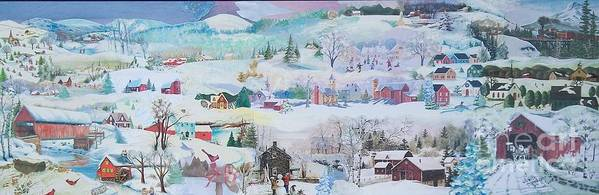 Snow Poster featuring the mixed media Cardinal In The Snow - Sold by Judith Espinoza