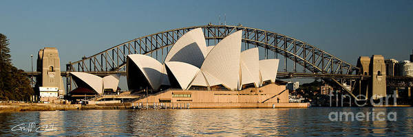 Sydney Opera House Poster featuring the photograph Icons One And Two - Sydney Australia. by Geoff Childs