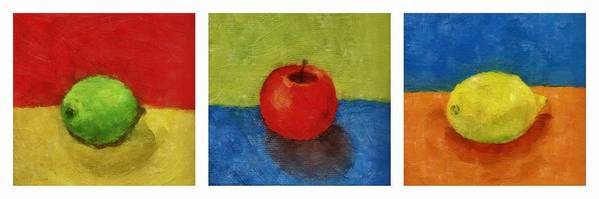 Lime Poster featuring the painting Lime Apple Lemon by Michelle Calkins