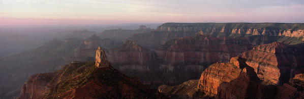 Photography Poster featuring the photograph Morning Light On The Grand Canyon by Panoramic Images