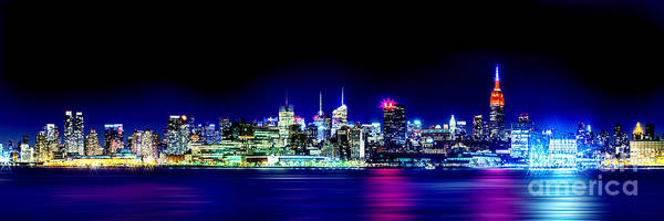 New York City Skyline Poster featuring the photograph New York City Skyline by Az Jackson