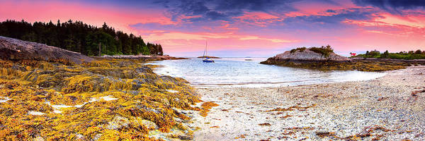 Pano Poster featuring the photograph Southport Maine by Emmanuel Panagiotakis