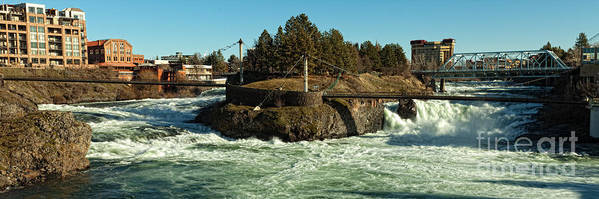 Spokane Falls - Spokane Washington Poster featuring the photograph Spokane Falls - Spokane Washington by Beve Brown-Clark Photography