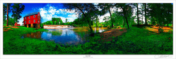 Historic Poster featuring the photograph Starrs Mill 360 Panorama by Lar Matre