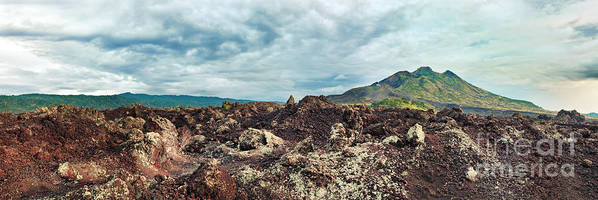 Volcano Poster featuring the photograph Volcano Batur by MotHaiBaPhoto Prints