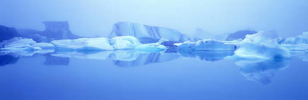 Jokulsarlon Ice Lagoon Poster featuring the photograph Icebergs by Jeremy Walker