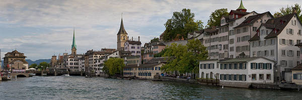 Color Image Poster featuring the photograph A Panorama View Of Zurich by Greg Dale