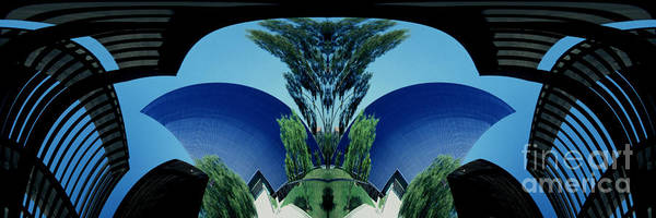 Abstract Poster featuring the photograph Blue Arches by Paul W Faust - Impressions of Light
