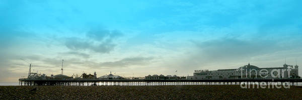 Brighton Pier Panorama Poster featuring the photograph Brighton Pier Panorama by John Basford