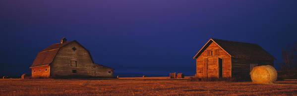 Farm Poster featuring the photograph Farm Buildings by David Nunuk