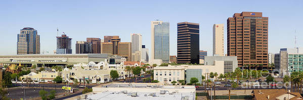 Architecture Poster featuring the photograph High Rise Buildings Of Downtown Phoenix by Jeremy Woodhouse