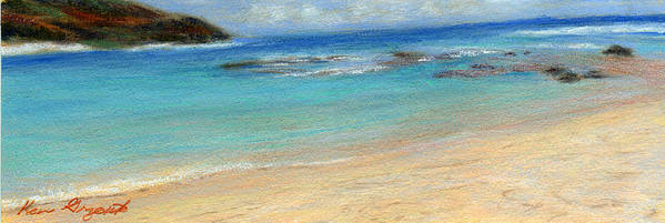Coastal Decor Poster featuring the painting Aqua Moloa'a by Kenneth Grzesik
