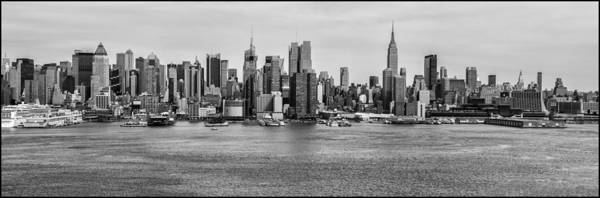 Cityscapes Poster featuring the photograph Big Apple Skyline by Louis Dallara
