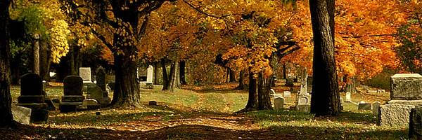 Fall Poster featuring the photograph Cemetary Road In Autumn by Roger Soule