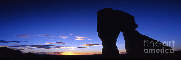 Delicate Arch Poster featuring the photograph Delicate Arch At Dusk Panoramic by Sven Brogren