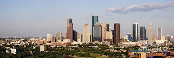 Architecture Poster featuring the photograph Downtown Houston Skyline by Jeremy Woodhouse