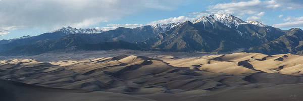 Great Sand Dunes Poster featuring the photograph Great Sand Dunes Panorama by Aaron Spong