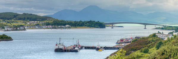 Kyle Poster featuring the photograph Kyle Of Lochalsh And The Isle Of Skye, by Ray Devlin