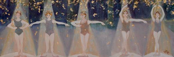 Ballet Poster featuring the painting Les Cinq Positions by Julie Todd-Cundiff