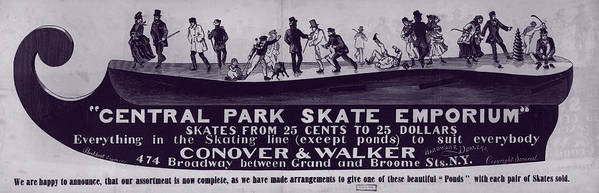 1880s Poster featuring the photograph New York City, Illustration Advertising by Everett