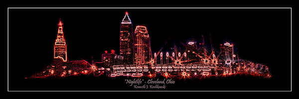 Cleveland Poster featuring the photograph Nightlife by Kenneth Krolikowski
