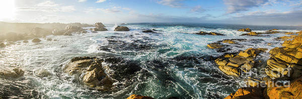 Panorama Poster featuring the photograph Seas Of The Wild West Coast Of Tasmania by Jorgo Photography - Wall Art Gallery