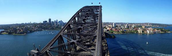Horizontal Poster featuring the photograph Sydney Harbour Bridge by Melanie Viola