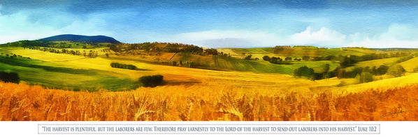 Christian Poster featuring the digital art The Harvest Is Plentiful by Dale Jackson