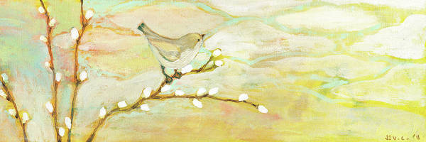 Bird Poster featuring the painting Watching The Clouds No 3 by Jennifer Lommers