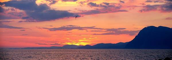 Greece Poster featuring the photograph 0016233 - Patras Sunset by Costas Aggelakis