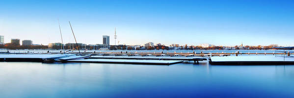 Alster Poster featuring the photograph Blue Winter Dream by Marc Huebner