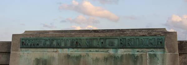 Centennial Bridge Sign Poster featuring the photograph Centennial Bridge Sign by Heidi Brandt
