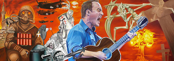 Dave Matthews Band Poster featuring the painting Dave Matthews The Last Stop by Joshua Morton
