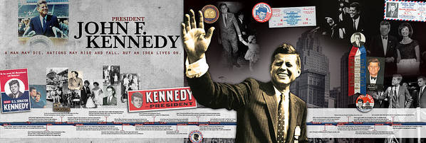 John F. Kennedy Timeline Panorama Poster by Retro Images Archive