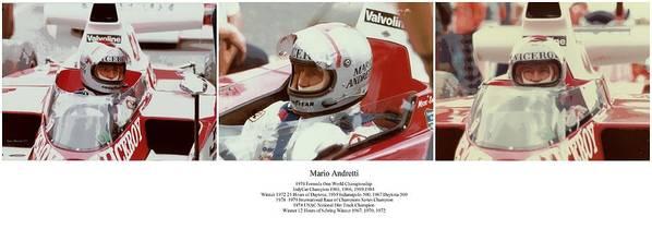 Mario Andretti Poster featuring the photograph Mario Andretti by Don Struke
