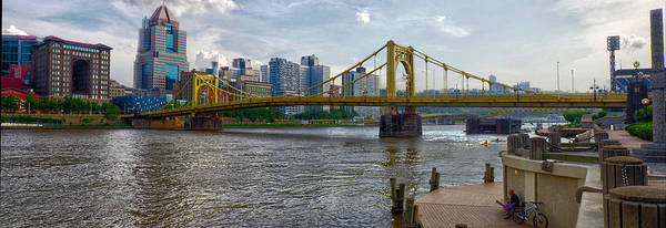 Clemente Poster featuring the photograph Pittsburgh Clemente Bridge by C H Apperson