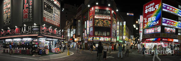 Shinjuku Poster featuring the photograph Shinjuku Night by David Bearden